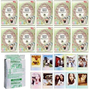Fujifilm Instax Mini Macaroon Instant 100 Film for Fuji 7s 8 25 50s 70 90/ Polaroid 300 Camera/ Share SP-1 SP-2 - intl