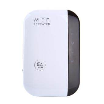 fuskm 300Mbps Wifi Repeater Wireless-N AP Wifi Range Signal Extender Booster (US Plug)