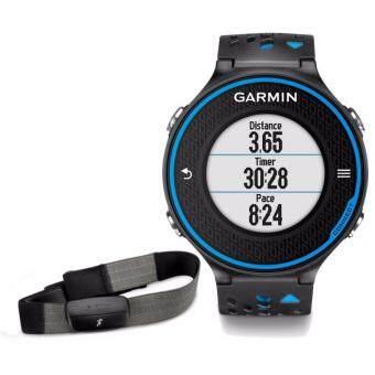 Garmin Forerunner 620 Running GPS Watch WITH HRM Bundle Set (Black/Blue)
