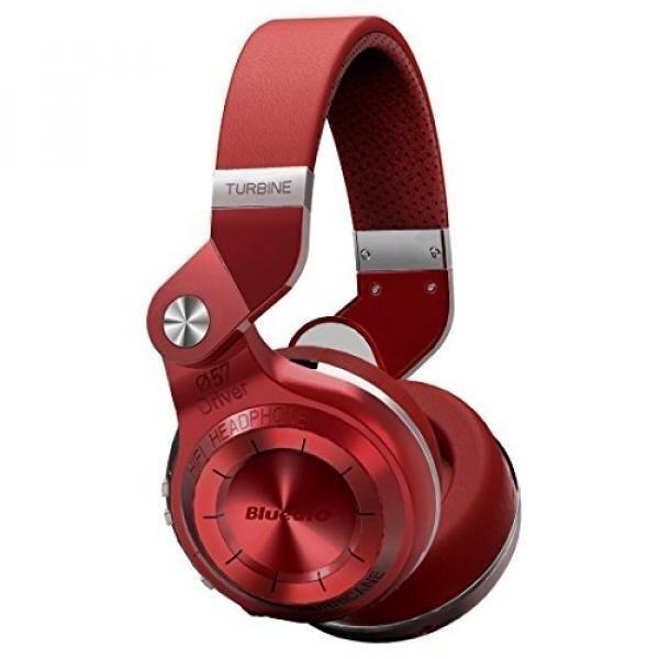 GPL/ Bluedio T2 Plus Turbine Wireless Bluetooth Headphones with Mic/Micro SD Card Slot/FM Radio (Red)/ship from USA - intl