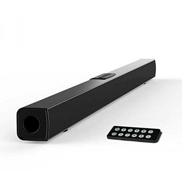 GPL/ TV Sound Bar, Meidong Bluetooth Soundbar with Built-in Subwoofer, 36 inch 2.0 Channel Home Theater Speakers, Wireless and Wired Bluetooth Audio for TV/PC/ Phones/Tablets/ Echo dot (2017 Model)/ship from USA - intl image