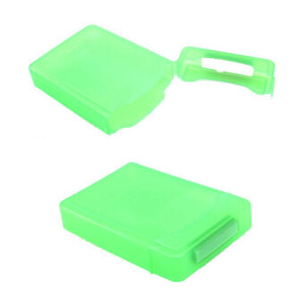 Hard Case Storage Case for 3.5 Inch Hard Disk Drive SATA IDE HDD (Green)