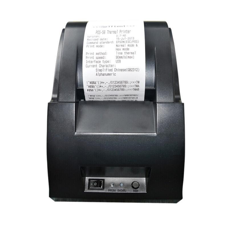 hazyasm USB Mini 58mm POS Thermal Dot Receipt Bill Printer Set Roll Paper POS Z-5890 - intl