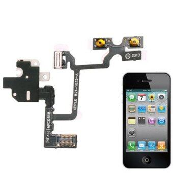 Headphone Audio Jack Ribbon Flex Cable for iPhone 4(White)
