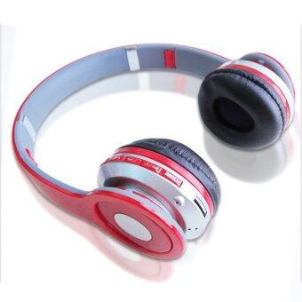Headphone Overhead Wireless Bluetooth For Mp3 PlayerSmartphone (Color:Red) - intl