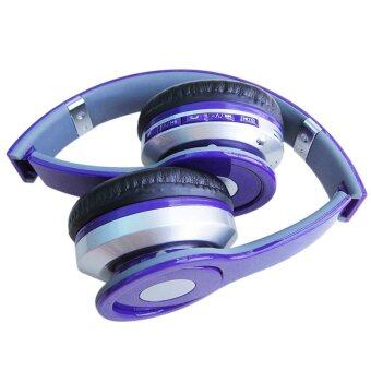 Headphone Overhead Wireless Bluetooth for mp3 Player Smartphone(Purple) - intl