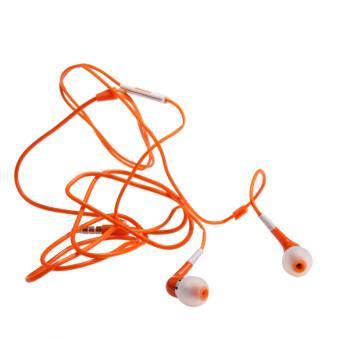 Headphone With Mic for iPhone (Orange) - intl