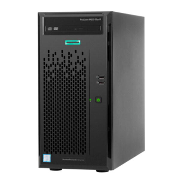Hewlett Packard HPE ProLiant ML10 Gen9 E3-1225v5, 8GB-U DDR4, 1TB NHP SATA, DVD-RW, 300w 333Y ...
