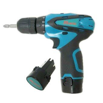 HISATTEL Cordless Driver Drill สว่าน ไขควงไฟฟ้า ไร้สาย 12V (ฺสีน้ำเงิน)