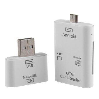 HKS 2in1 Micro USB & USB SD TF OTG Card Reader Kit For Samsung S4 S6 Note 4 HTC PC