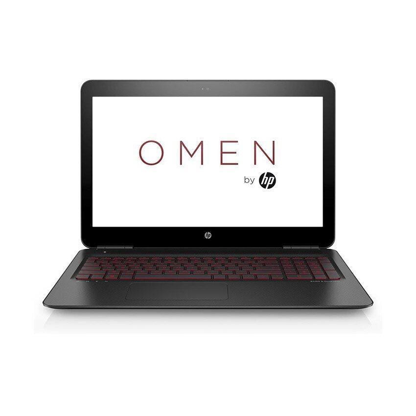 HP แล็ปท็อป OMEN รุ่น 15-ax201TX/i7-7700HQ/4G/1TB/GTX1050(4)/W10 (สีดำ)