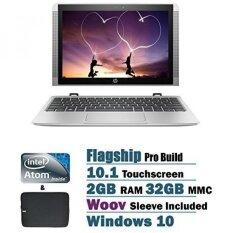 HP x2 Detachable 2 in 1 10.1 inch HD Touchscreen Flagship High Performance Laptop PC, Intel Atom x5-Z8350 1.44 GHz Quad-Core, 2GB RAM, 32GB eMMC, Bluetooth, WIFI, Windows 10, Silver - intl