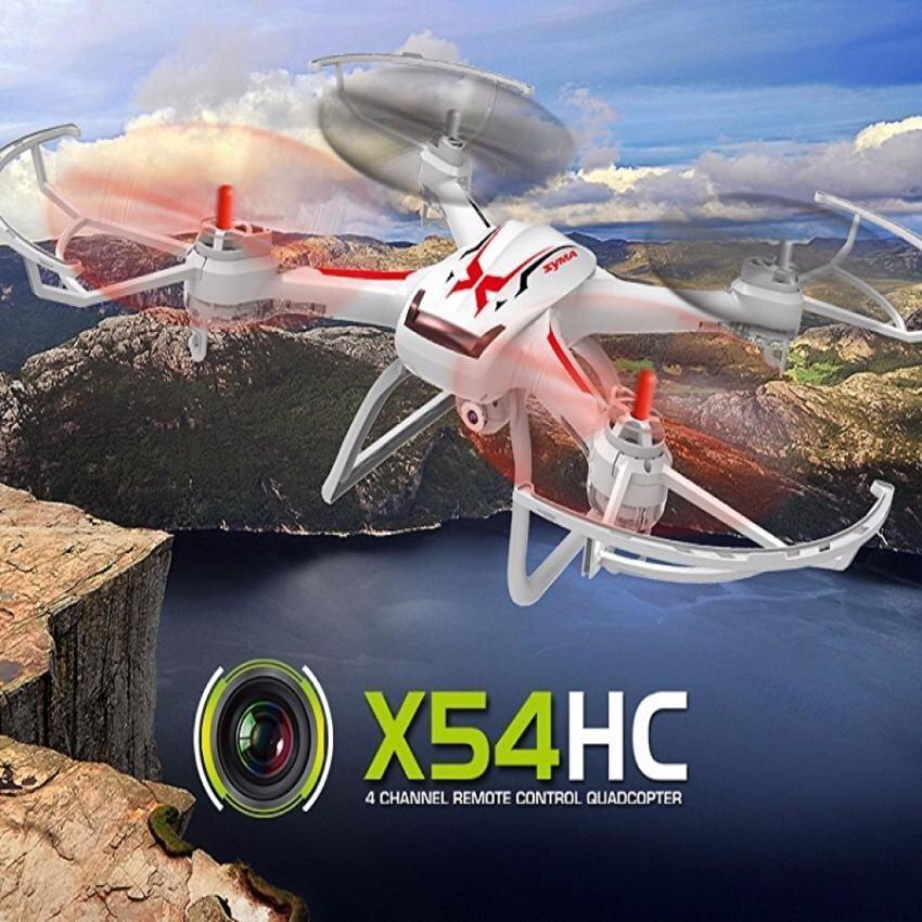 Hubsanโดรนบังคับ โดรนติดกล้องdroneเอ็กซ์ห้าสี่hwลอคความสูงได้ สีขาว-แดง สามารถถ่าย ภาพนิ่ง+วีดีโอดูภาพสดผ่านมือถือwifi