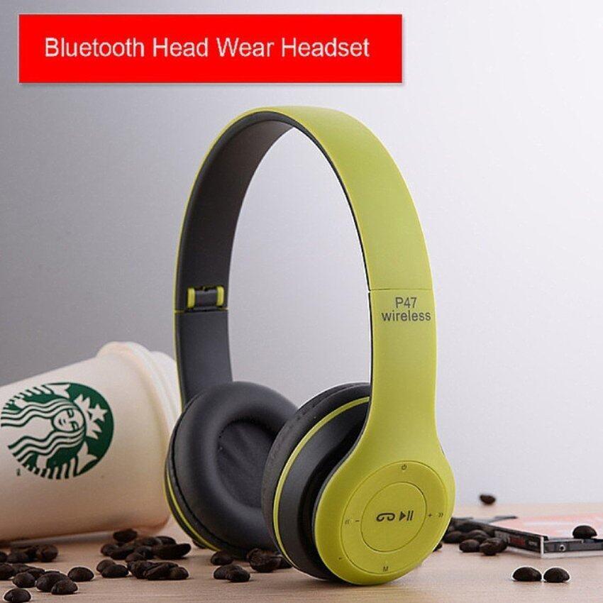 หูฟังบลูทูธ ไร้สาย Wireless Bluetooth Headphone Stereo รุ่น P47 ( Green)