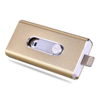 i-Flash Drive 64GB Usb Pen Drive/Mobile OTG Usb Flash Drive For iPhone 5/5s/5c/6/6 Plus/ipad(Gold) - intl