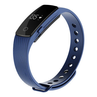 ID107 Waterproof Fitness Tracker Bluetooth 4.0 Smart Wristband Heart Rate Monitor Sleep Monitor (Blue) - Intl