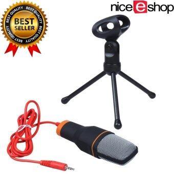 niceEshop มืออาชีพ Condenser พอดคาสต์สตูดิโอบันทึกเสียงไมโครโฟนสำหรับเครื่องคอมพิวเตอร์แล็ปท็อป (สีดำ)