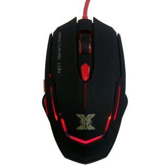 NUBWO เมาส์มาโคร Marco Gaming Mouse X-SERIES รุ่น Kronos X1 (Black/Red)