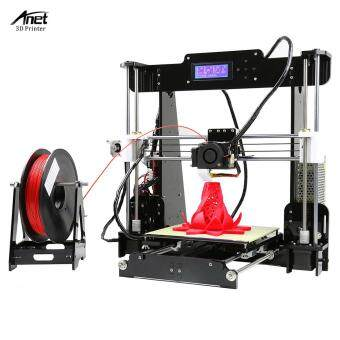Anet A8 High Precision Desktop 3D Printer Kits Reprap Prusa i3 DIY Self Assembly MK8 Extruder Nozzle Acrylic Frame LCD Screen with 8GB SD Card Printing Size 220*220*240mm Support ABS/PLA/HIP/PP/Wood Filament Black - intl