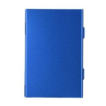 Metal Double-deck CF SD TF Memory Card Storage Box 2CF+2SD+4TF Protective Case Blue - intl