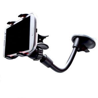 MEGA Universal 360° Rotation Suction Cup Car Windshield Phone Holder Bracket Mount For Smart Phone GPS MP4 ที่หนีบโทรศัพท์ในรถใช้ได้ทุกขนาด รุ่น MG2008 (Black)