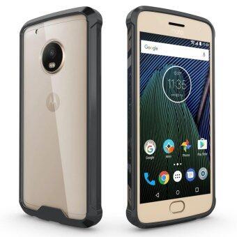 Hybrid Slim Grip TPU Bumper Transparent Hard Back Case Cover for Motorola Moto G5 Plus Black - intl
