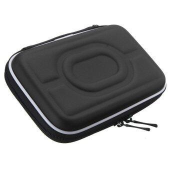 กระเป๋าเคสกันกระแทกป้องกันลำบากกระเป๋าเอนกประสงค์สำหรับ 6.35ซมฮาร์ดไดรฟ์แบบพกพาสีดำ
