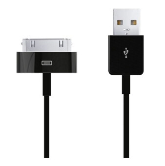 BestBuy USB Cable Charging สายชาร์จ / Data Sync Compatible with iPhone 3/3GS/4/4S/iPad - Black (ฟรี iPhone 4 Cable White) (image 1)