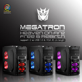 Tsunami Megatron X2 Series USB 3.0 Gaming Case with 3 x LED Fan (BLACK&BLUE) (image 3)