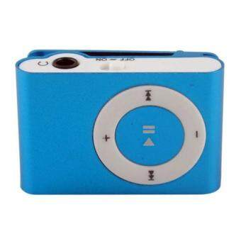 BUYINCOINS USB MP3 Music Media Player Support 1 - 8GB Micro SD TF (Blue)