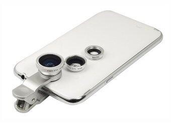 LIEQI-003 3in1 Universal Clip Lens เลนส์มือถือ (Super Wide macro Fisheye) สีเงิน