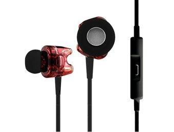 TTPOD หูฟังมีไมค์ T1S รองรับ iPhone / Android - สีแดงใส