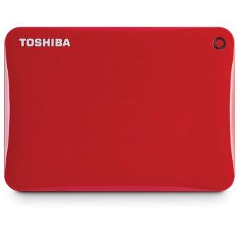 Toshiba Canvio Connect II 1TB External Hard Drive (Red)