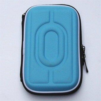2.5 Inch Universal Hot-pressing External Hard Disk Drive USB Cable Case HDD Protector Hard Drive Cover Pouch Carry Bag For PC Tablet Blue - intl