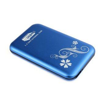 SATA Hard Disk Drive HDD SSD Case (Blue)