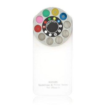 Novelty Funny Lens and Filter Turret Hard Case Cover for iPhone 5 5S White (Intl)