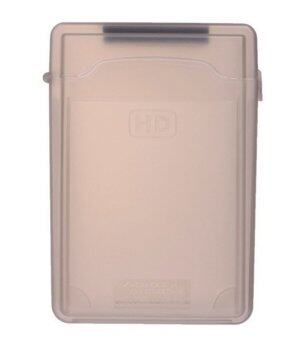 """Plastic Hard Disk Protective Case with Label 3.5"""" (Gray)"""