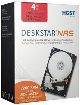 HGST Deskstar NAS 3.5-Inch 4TB 7200RPM SATA III 6GB/S Cache Internal Hard Drive Kit - intl