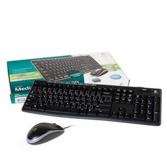 Logitech Keyboard MK200 Media Combo USB Thai Font P/N:920-002697 (Black)