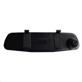 OMG Black Box DVR กล้องติดรถยนต์แบบกระจกมองหลังพร้อมกล้องติดท้ายรถ FHD1080P (สีดำ)ฟรีMicro SD CARD 32G มูลค่า350บาท (image 3)