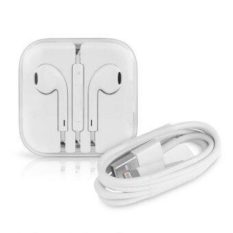 Apple Lightning to USB Cable 1M + Apple หูฟัง earpods พร้อมรีโมทและไมโครโฟน · >>>>