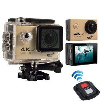 niceEshop 4กิโลไบต์การกล้องไร้สายเอช 5.08ซม 170องศากล้องไร้เลนส์มุมกว้างดำเนินการ 4กิโลไบต์กล้องกันน้ำการกีฬา ทอง