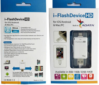 128GB 128GB 128GB i-Flashdrive Smart Mobile Micro Lightning/OTG USB Flash Drive For iPhone 5/5s/5c/6/6 Plus/ipad Pendrive(White) - intl