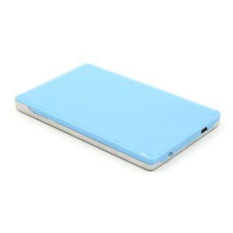 2.5 Inch USB 2.0 Aluminum External Storage SATA Hard Drive HDD Enclosure Box Case Blue + Silver