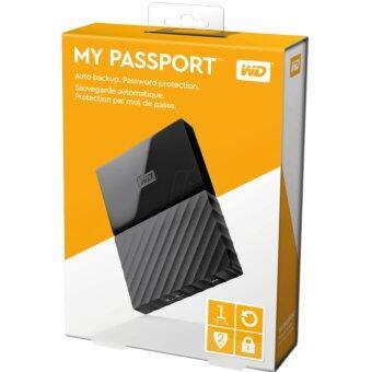 ฮาร์ดดิสก์ภายนอก WD My Passport New Model 1TB (BLACK) ใหม่