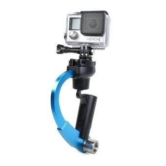 วีดีโอมือถือกล้องจะมั่นคงโค้งสีน้ำเงินสำหรับ Gopro Hero 4 3 Sjcam SJ4000 Xiaomi Yi กล้องอีก
