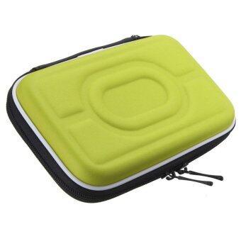 กระเป๋าเคสกันกระแทกป้องกันลำบากกระเป๋าเอนกประสงค์สำหรับ 6.35ซมฮาร์ดไดรฟ์แบบพกพาสีเขียว