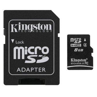 Kingston Memory Card เมมโมรี่การ์ด Micro SD 8 GB Class 4 with Adapter (image 1)