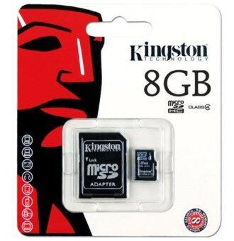Kingston Memory Card เมมโมรี่การ์ด Micro SD 8 GB Class 4 with Adapter (image 0)