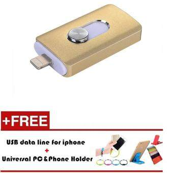 MITPS Lightning OTG Flash Drive 512GB For iOS Android and USB For Computer PC For Tablet iphone OTG Pendrive(Gold) - intl